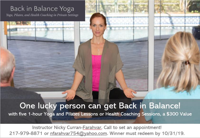 Back in Balance Yoga Prize